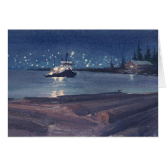 NIGHT TUG by SHARON SHARPE Card
