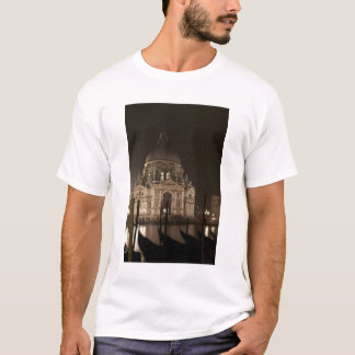 Night view across water of San Giorgio Maggiore T-Shirt