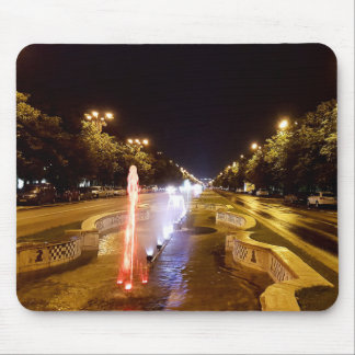 Night view at colorful fountain in Bucharest Mouse Pad
