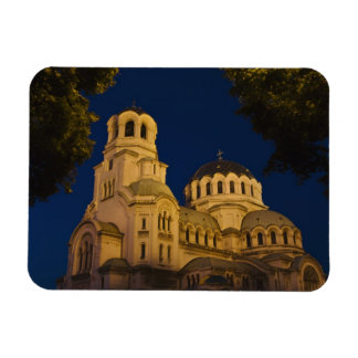Night view of Alexander Nevski Cathedral Magnet