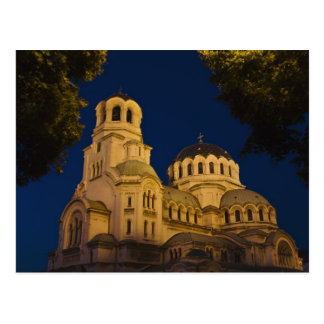 Night view of Alexander Nevski Cathedral Postcard