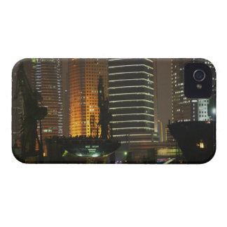 Night view of highrises in Pudong New Area by iPhone 4 Cases