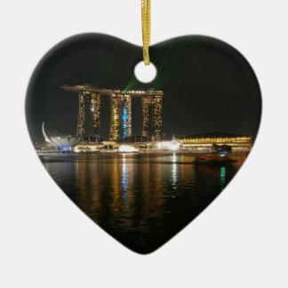 Night view of Singapore Ceramic Ornament