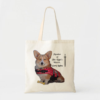 Night Watch Corgi Tote Bag