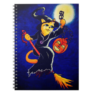 Night Witch Cat Notebooks