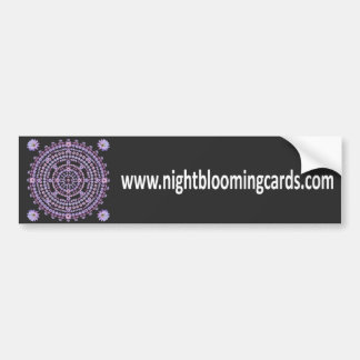 Nightblooming Cards Bumper Sticker