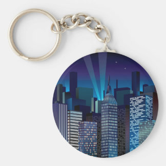 NightCityScape_VectorDTL Key Ring