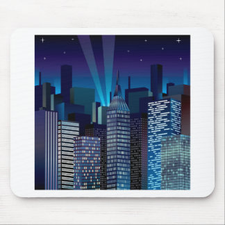 NightCityScape_VectorDTL Mouse Pad