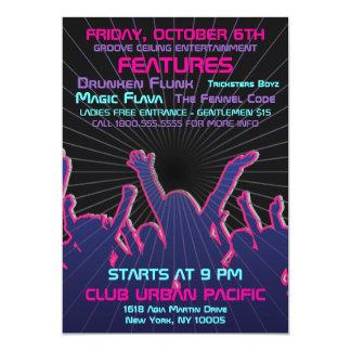 Nightclub Dance Rave Template Card