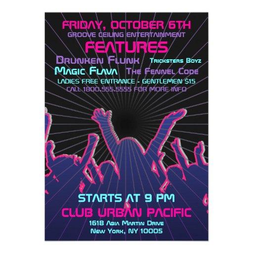 Nightclub Dance Rave Template Announcements