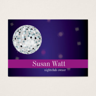 Nightclub Disco Ball Business Card