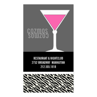 Nightclub or Bartender Business Cards