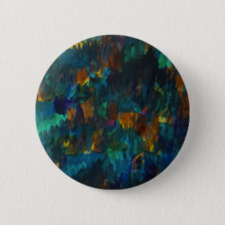 Nightfall on hillside 6 cm round badge