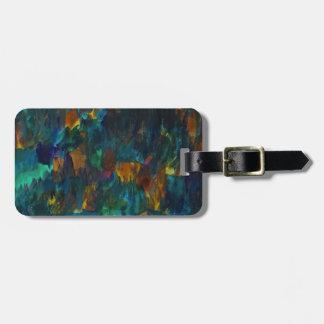 Nightfall on hillside luggage tag