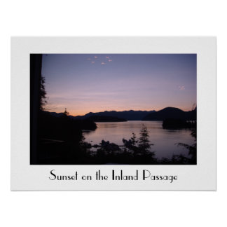 Nightfall on the Inland Passage British Columbia Poster
