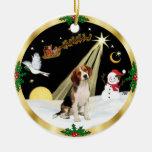 NightFlight-  Beagle Round Ceramic Decoration