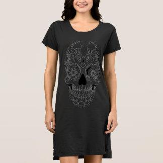 nightgown black skull dress