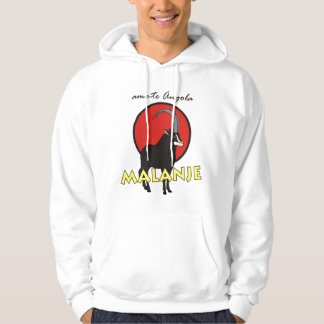 nightgown with capucho - I love you Angola - Malan Hoodie