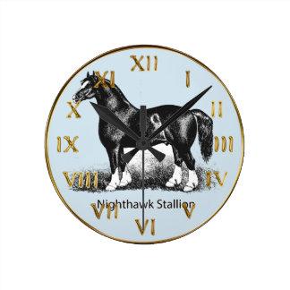 Nighthawk StallionProduct Selected Multiple Round Clock