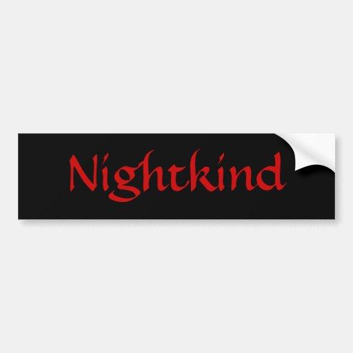 Nightkind/Red Bumper Sticker Car Bumper Sticker