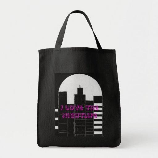 Nightlife Tote Bags