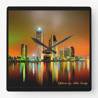 Nightlife in downtown Corpus Christi Wallclocks
