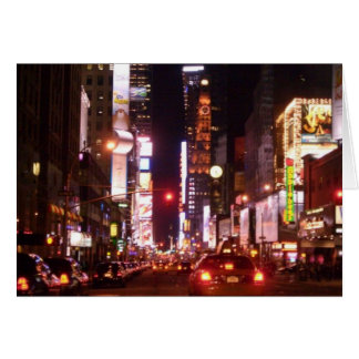 Nightlife in the City Greeting Card
