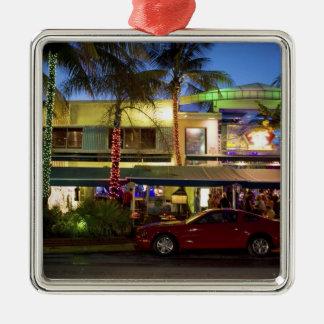 Nightlife on Ocean Drive, South Beach, Miami Christmas Tree Ornaments