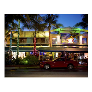 Nightlife on Ocean Drive, South Beach, Miami Postcard