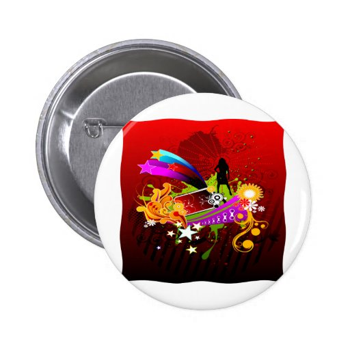 Nightlife Party Time Pinback Buttons