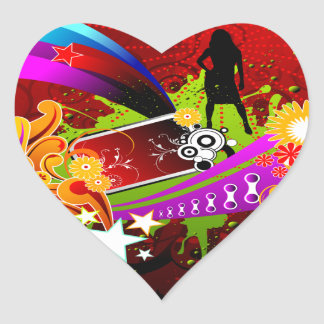 Nightlife Party Time Heart Sticker