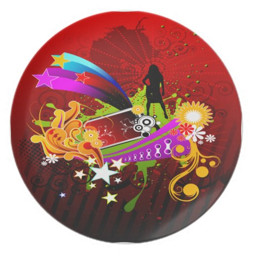 Nightlife Party Time Plate