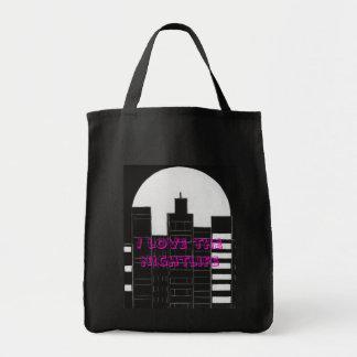 Nightlife Grocery Tote Bag