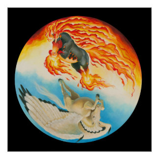 Nightmare and Mesa Pegasus Yin Yang Poster