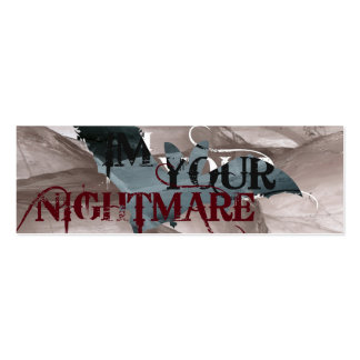 Nightmare Bookmark Pack Of Skinny Business Cards