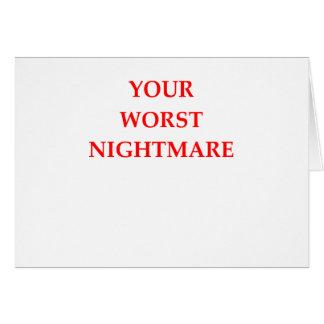 NIGHTMARE CARD