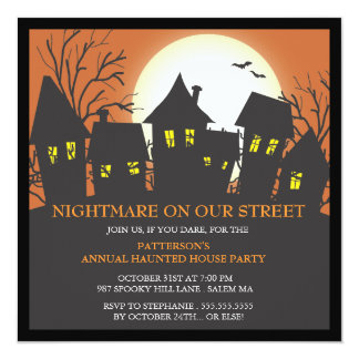 Nightmare Neighborhood Halloween Party Invitation
