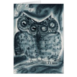 NightOwl Pair - Greeting Card