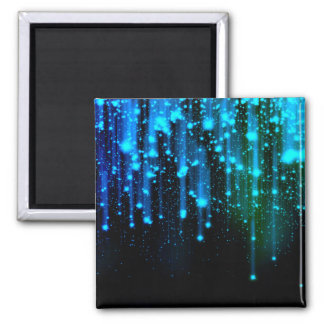 Nights Of Rain and Stars Meteor Shower Blue Magnet