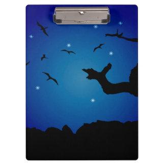 Nightscape Landscape Illustration Clipboard