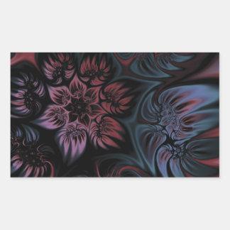 NIghtshade Fractal Flower Rectangular Sticker