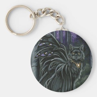Nightshade Winged Cat Keychain