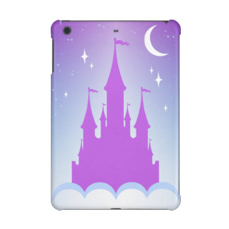 Nighttime Dreamy Castle In The Clouds Starry Sky