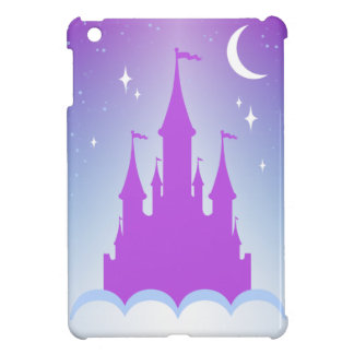 Nighttime Dreamy Castle In The Clouds Starry Sky iPad Mini Cover