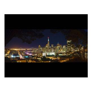 Nighttime Panorama Skyline of San Francisco Postcard