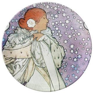 nighttime stars porcelain plate