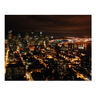 Nightview of Seattle Postcard