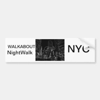 NightWalk New York City Times Square CricketDiane Bumper Sticker