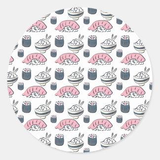 Nigiri Sushi Classic Round Sticker