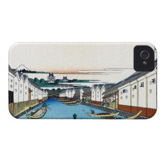 Nihonbashi bridge in Edo Katsushika Hokusai iPhone 4 Case
